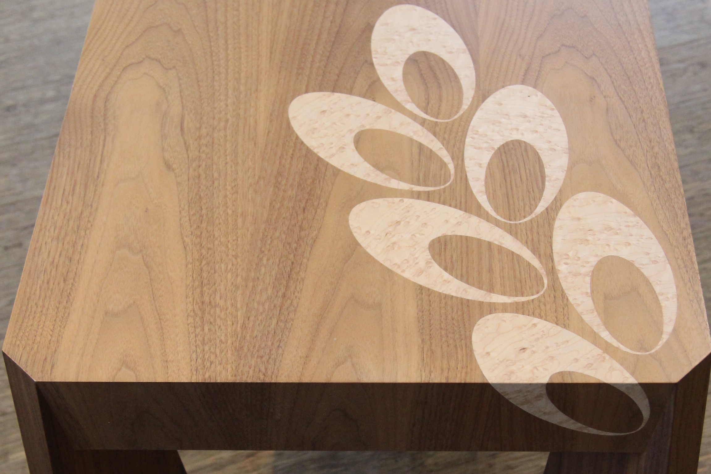 Coffee Table with Wood Inlay